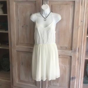 Chelsea & Violet Anthropologie Ivory Dress NEW M